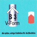 French Manikür-Schablonen V-Form