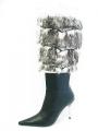 Designer High Heel Stiefel ISCHGL FURRY BLACK