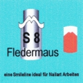 French Manikür-Schablonen FLEDERMAUS